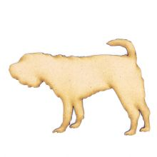 Shar Pei Dog Craft Blank, Dog Shape 3mm MDF Laser Cut Pyrography